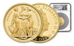 GB 2020 £500 5-oz Gold Three Graces NGC PF69UC FR - Tower Bridge Label