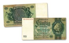 GERMANY 1933 50 REICHSMARK CURRENCY 3-30-33 CIRC