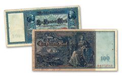 GERMANY 1910 100 MARK CURRENCY NOTE CIRC
