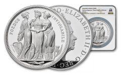 GB 2020 5-oz Silver Three Graces NGC PF69UC FR - Tower Bridge Label