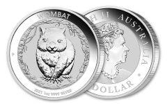 2021 Australia $1 1-oz Silver Wombat BU