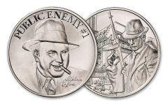 Intaglio Mint 1-oz Silver Public Enemy #1: Al Capone Medal Gem BU