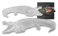 2021 Solomon Islands $2 1-oz Silver Animals of Africa: Nile Crocodile-Shaped Reverse Proof