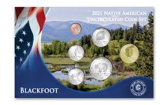 6pc 2021 Native American Blackfoot Tribe BU Set
