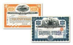 2PC 1910-1949 MARCONI-INTL MERC STOCK SET