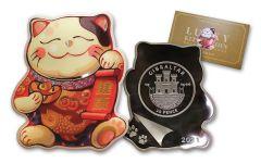 Gibraltar 2021 20p 10-Gram Silver Lucky Kitten Proof-Like
