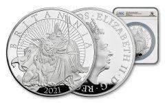 GB 2021 2-Kilo Silver Britannia Proof NGC PF70UC FDI