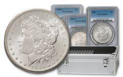 1880-1887-POS Morgan Silver Dollar 9-pc Set PCGS MS65