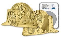 France 2021 200€ 1-oz Gold Bicorne Hat Proof NGC PF70 FR