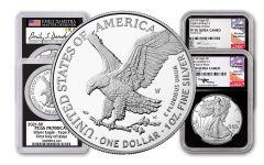3pc 2021-W $1 1oz Silver Eagle T2 NGC/PCGS PF70UC FDI Mercanti, Gaudioso, Damstra BC