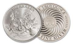 2021 Intaglio Mint 1-oz Silver The Kraken High Relief Medal Gem BU