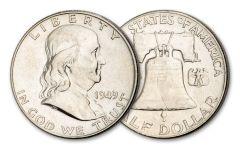 1949-P 50 CENT FRANKLIN HALF-DOLLAR AU