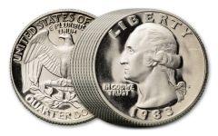 10PC 1968-2018 25 CENT WASHINGTON PROOF - 10 DIFFERENT