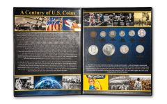 10PC 1900-1999 1 CENT TO $1 CENTURY OF U.S. COINS
