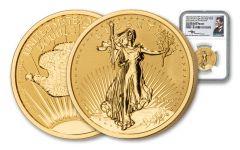 1933-2021 NPF Saint-Gaudens Double Eagle 1 oz Gold Reverse Proof Medal NGC GEM PF FDI Mercanti Label