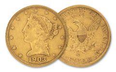 1866-1906-S $5 LIBERTY GOLD XF