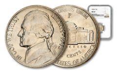 1943-P 5 Cent Jefferson War NGC MS67