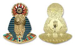 Ghana 2022 2-Cedis CuNi Legacy of Egypt Ra w/ Gold Plating Uncirculated