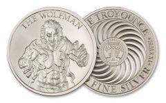 2021 Intaglio Mint 1-oz Silver Vintage Horror Series: Wolfman Round Gem BU