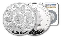 GB 2021 £10 5-oz Silver Queens Beast Completer NGC PF70UC FS - Queen's Beast label