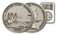 France 2021 2-oz Silver Washington Before Boston Antiqued NGC MS70 FDI