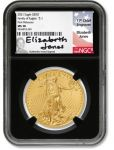 2021 $50 1-oz Gold Eagle Type 1 NGC MS70 First Releases w/Black Core & Jones Signature