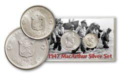 1947 Philippines Silver MacArthur BU 2pc Set