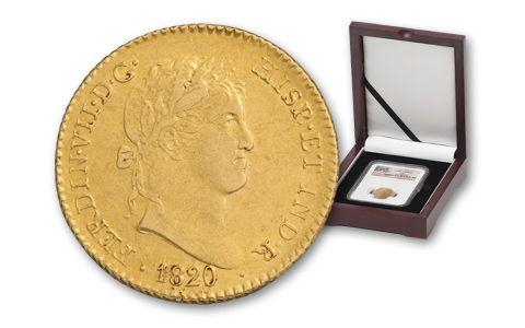 1772-1832 Spanish 2 Escudos Legal Tender NGC-XF