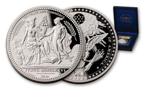 2-oz Silver Diplomatic Medal PCGS GEM Proof