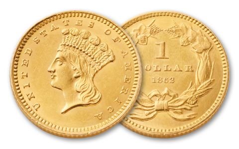1856-1889 1 Dollar Gold Indian Type III XF