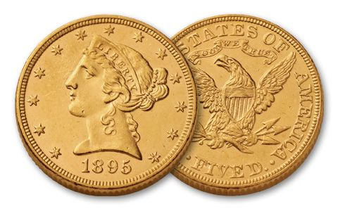 1866-1908 5 Dollar Gold Liberty XF