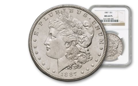 1879–1904 Morgan Silver Dollar NGC/PCGS MS64 PL