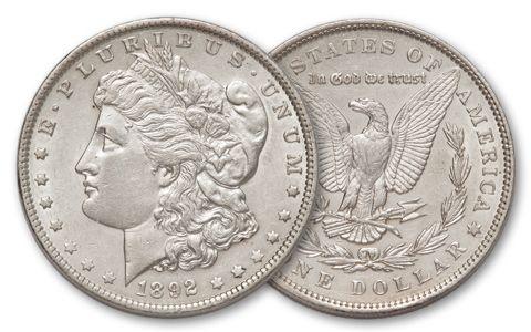 1892-P Morgan Silver Dollar AU