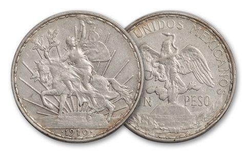 1910-1913 Mexico Peso Silver Cabillito VF