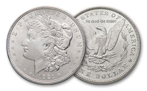 1921-P Morgan Silver Dollar BU