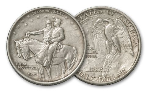 1925 50 Cent Stone Mountain Commemorative VF-XF