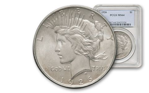 1926-P Peace Dollar NGC/PCGS MS64