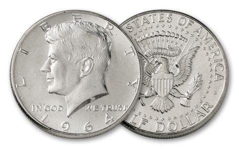 1964 50 Cent Kennedy BU