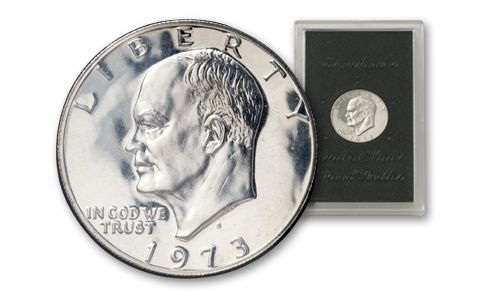 1973-S Eisenhower Dollar Proof Brown Holder