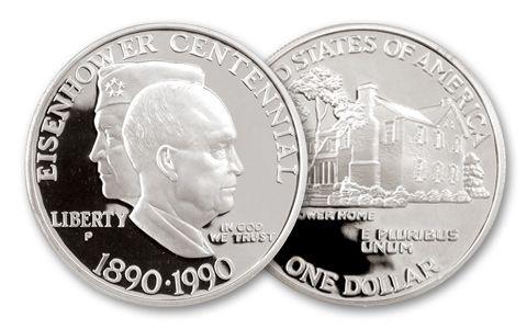 1990-P Eisenhower Commemorative Silver Dollar Proof