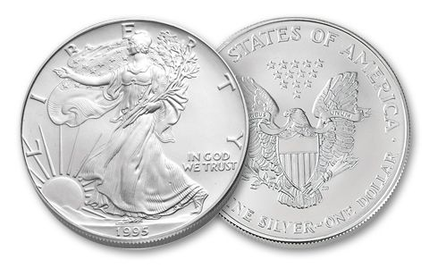 1995 1 Dollar 1-oz Silver Eagle BU