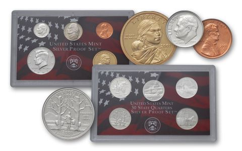 2001 U.S. SILVER PROOF SET