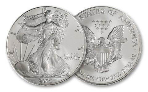 2005 1 Dollar 1-oz Silver Eagle BU