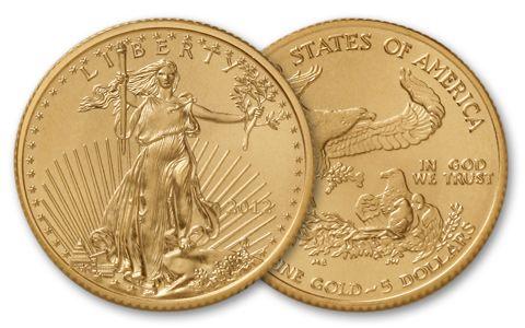 2012 5 Dollar 1/10-oz Gold Eagle BU