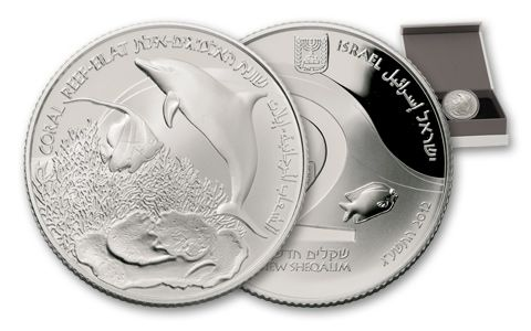 2012 Israel 2 Nis 1-oz Silver Eliat Coral Reef Proof
