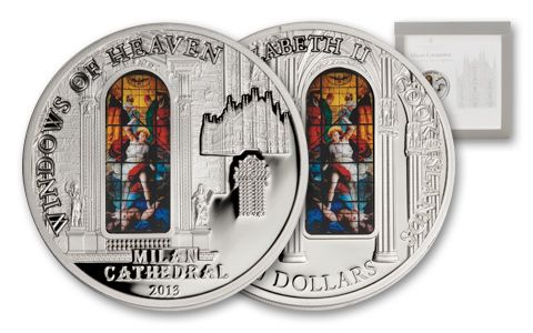 2013 Cook Islands 10 Dollar Windows of Heaven Milan Proof-Like