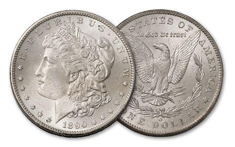 1890-O Morgan Silver Dollar BU