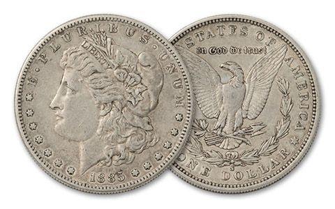 1885-S Morgan Silver Dollar XF