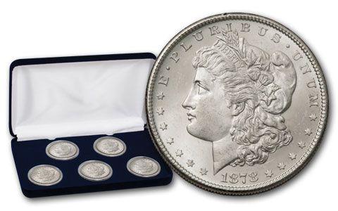 5PC 1878-1882-S $1 Morgan Collection BU