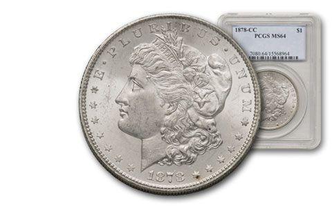 1878-CC Morgan Silver Dollar PCGS/NGC MS64